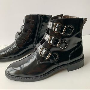 Pertini black leather ankle boots size 38